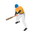 bat baseball player composition vector image