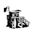 beach house surfing club vector image