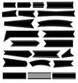 Black ribbon icons set vector image vector image