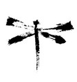 black vactor dragonfly vector image