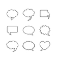 Blank empty white speech bubbles vector image vector image