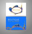 Boutique luxury prestige logo vector image vector image