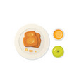 breakfast fresh food and drinks top view vector image vector image