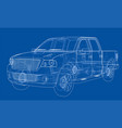 car suv drawing outline rendering vector image