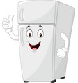 cartoon fridge mascot giving thumbs up vector image vector image