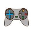 cartoon gray control console game vector image