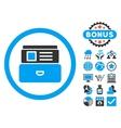 Catalog Flat Icon with Bonus vector image vector image