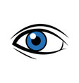 comic blue eye look optical style vector image vector image
