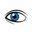 comic blue eye look optical style vector image vector image