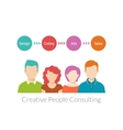 Creative people consulting vector image vector image