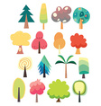 cute tree set vector image
