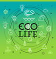 eco life concept different thin line icons vector image