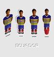Ecuador Soccer Team Sportswear Template vector image vector image