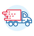 fast truck delivery icon outline style vector image vector image