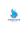 fire statistic stats logo icon design inspirations vector image vector image