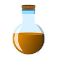 flask and bottle icon label of fantasy potion and vector image vector image