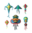 Flying colorful kite vector image vector image