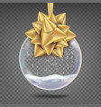 glass christmas ball realistic sphere vector image vector image
