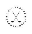 golf sport graphic design inspiration vector image vector image