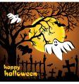 Halloween scene vector image vector image