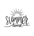 hand lettering inspirational poster summer time vector image