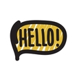 Hello bubble vector image vector image