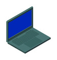 isometric image a laptop minimalistic style vector image vector image