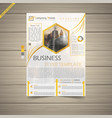 latest business flyer vector image vector image