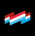 luxembourg flag ribbon isolated grand duchy tape vector image vector image