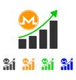 monero growth graph icon vector image vector image