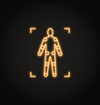 movement tracking icon in glowing neon style vector image vector image