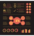 Navigation infographic icons vector image vector image