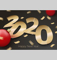 new year party invitation paper number 2020 vector image