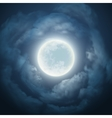 night sky with moon and cloud vector image