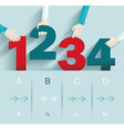 Number options template Can be used for workflow vector image vector image