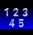 numbers with snow caps vector image vector image