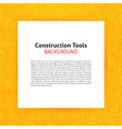 Paper over Construction Tools Line Art Background vector image vector image