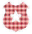 police shield halftone icon vector image