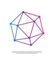 polygon network logo modern line art vector image vector image
