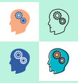 psychology concept icon set in flat and line style vector image vector image