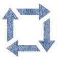 recycle fabric textured icon vector image vector image