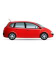 red minivan vector image vector image