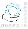 service contour icon vector image vector image