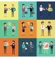Set of Business Concepts in Flat Design vector image vector image