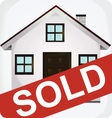 sold icon vector image vector image