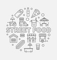 street food round concept symbol line vector image