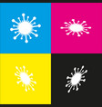 virus sign white icon with vector image