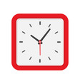 wall clock with square dial icon vector image
