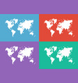 world map flat design vector image vector image