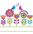 Decorative colorful funny flower background vector image